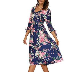 b48ed3380 Womens Dresses Hot Sale,DEATU Ladies Autumn 3/4 Flare Sleeve