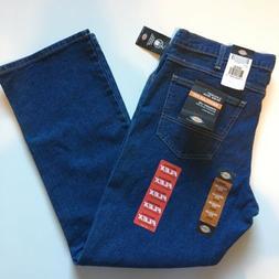 Dickies Work Jeans Regular Straight Leg 5 Pocket Dark Wash D