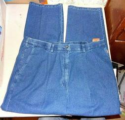 Haggar Work to Weekend Denim Blue Jeans Khakis - Mens 44x32