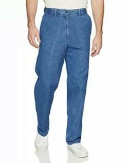 Haggar Men's Work To Weekend No Iron Denim Plain Front Pant