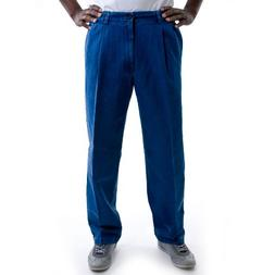 Haggar Men's Big,Tall Hidden Expandable Waistband Denim Plea