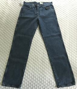 Wrangler Regular Fit Men's 32 X 34 Dark Wash Denim Jeans, IR