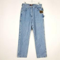 Wrangler Riggs Men Workwear Jeans Size 34 x 36 Carpenter Rel