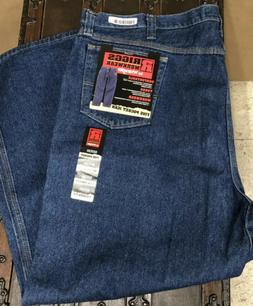 Wrangler Riggs workwear jeans 50x30 mens blue denim relaxed