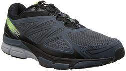 Salomon Men's X Scream 3D Running Shoe, Grey Denim/Black/Flo