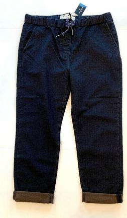 XXL 2XL Indigo Alpha Men/'s Joggers Jeans Elastic Waist Slim Fit Tapered Pants Da