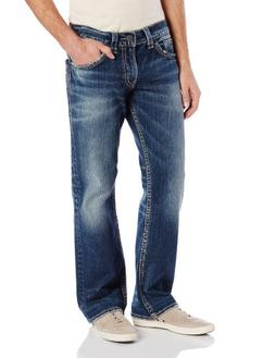 Silver Jeans Co. Men's Zac Relaxed Fit straight leg jeans Je