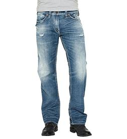 Silver Jeans Men's Zac Relaxed Fit Straight Leg Jeans with F
