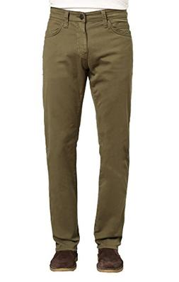Mavi Men's Zach Regular-Rise Straight-Leg Jeans, Green Olive